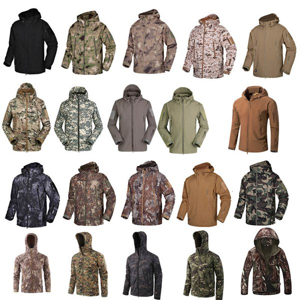 best selling Outdoor Woodland Hunting Shooting Clothing Tactical Camo Coat Combat Clothing Camouflage Outdoor Hoody Softshell Jacket P05-201