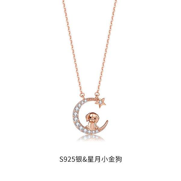 Collier de chien zodiac-925 argent