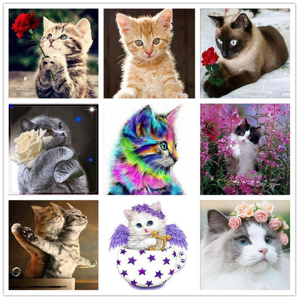 best selling 3d Painting round drill Embroidery Painting 5D Diy Diamond Painting Cross Ctitch Kits Diamond Mosaic Embroidery Landscape animals Home