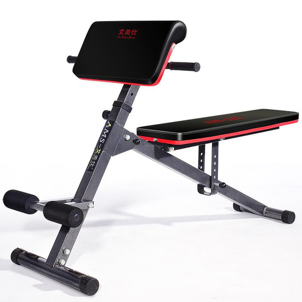 top popular Weight Bench Gym Roman Chair Foldable Adjustable Sit Up Abdominal Bench Ab Exercise 2021