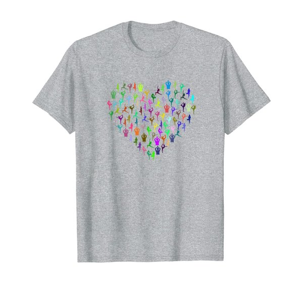Heart made up of YOGA Positions! A great yoga t-shirt
