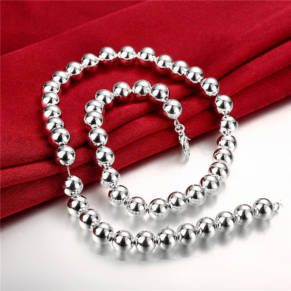 best selling 10M hollow Buddha beads sterling silver plated necklace DMSN097 Size 18INCHS*10mm ; fashion 925 silver plate necklaces jewelry chain