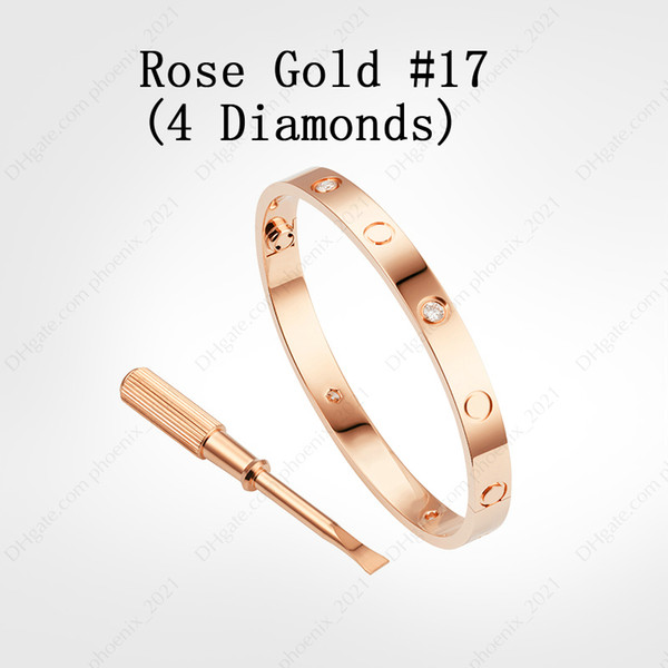 Rose Gold # 17 (4 Diamonds)