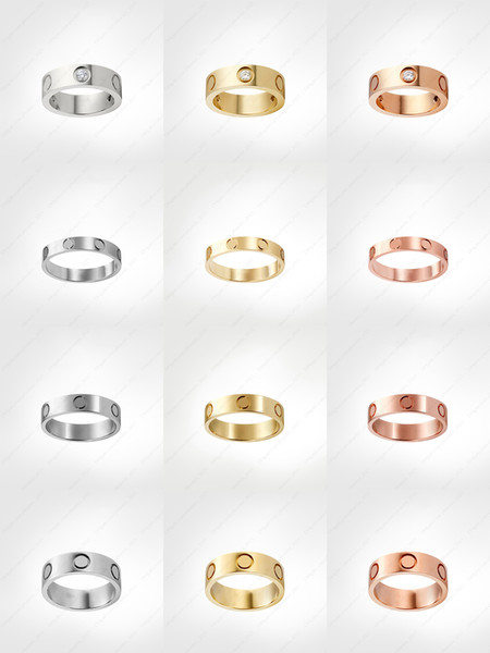 top popular love screw ring designer rings classic luxury designer jewelry women gold rings Titanium steel Gold-plated Never fade Not allergic -4 5 6mm 2021