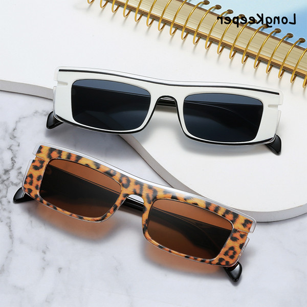 top popular Vintage Sunglasses Women Small Rectangle Fashion Leopard Clear Eyewear Men Colorful Trending Sun Glasses Shades Uv400 Gafas De 2021