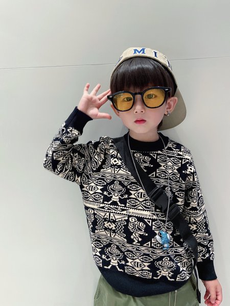 top popular kids boys knitted sweater winter cute baby boy Cartoon pullover sweaters children warm jumper clothes 2021