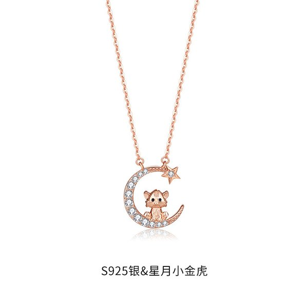 Collier tigre de chinois Zodiac-925 Sil