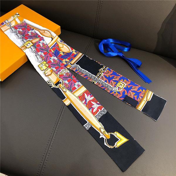 best selling new fashion brand designer Silk HANDBAG Bag scarf Headbands women silk scraves 100% Top grade silk bag scarf hair Bands size 120-6cm