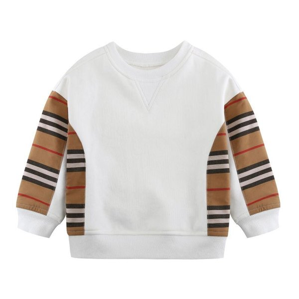 best selling Spring Autumn Baby Boys Girls Pullover Kids Long Sleeve Striped Sweaters Children Casual Sweatshirt 2-8 Years
