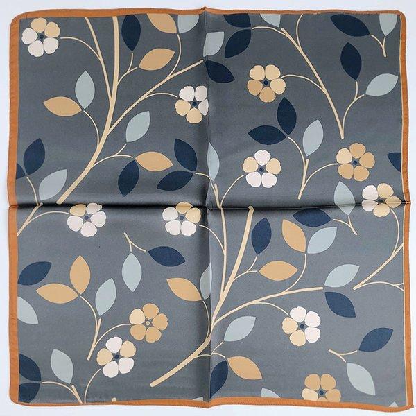 53 flor de borda de laranja de seda
