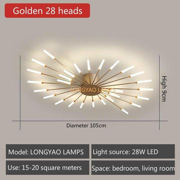 Golden 28 Heads-Neutral Light