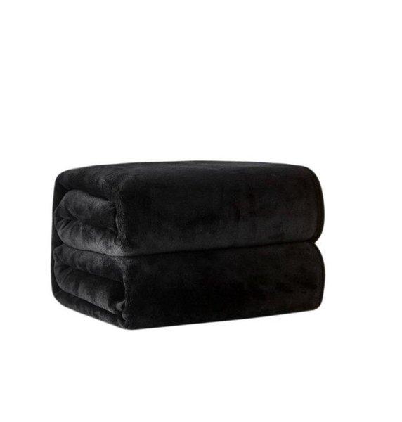 best selling HOT black throw flannel fleece blanket 2size- 130x150cm, 150x200cm No dust bag for Travel ,home ,office nap blanket