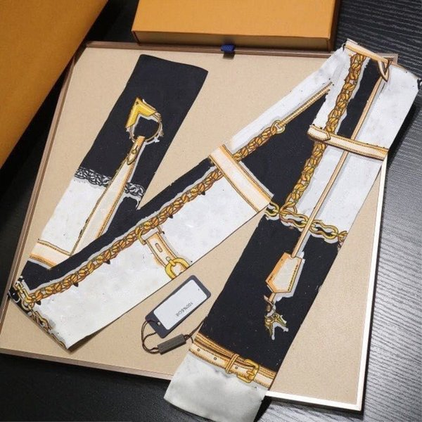 best selling Classic Handbag Scarf Headbands Women Letter Flower Silk Scraves Bandeaux Bag Hair BANDEAU 8x120cm