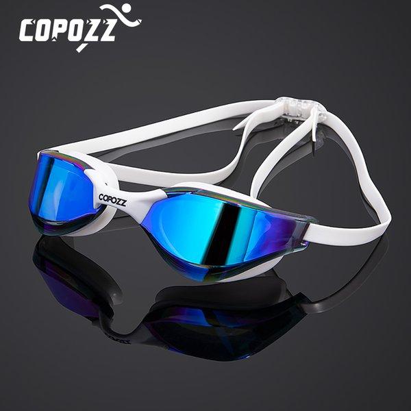 best selling COPOZZ Professional Waterproof Plating Clear Double Anti-fog Swim Glasses Anti-UV Men Women eyewear swimming goggles with case 210305