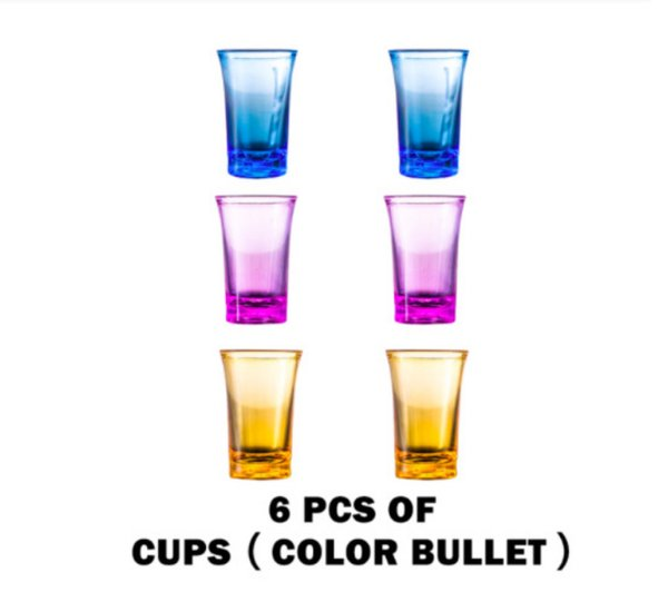 6 cup set (colorful)