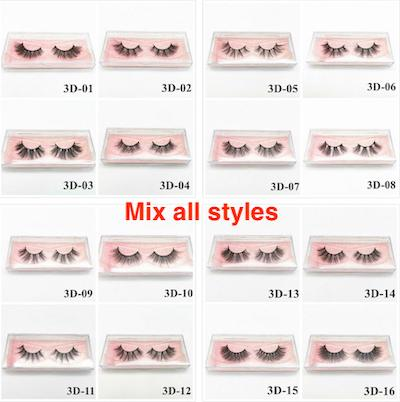 12-20mm lashes mix styles