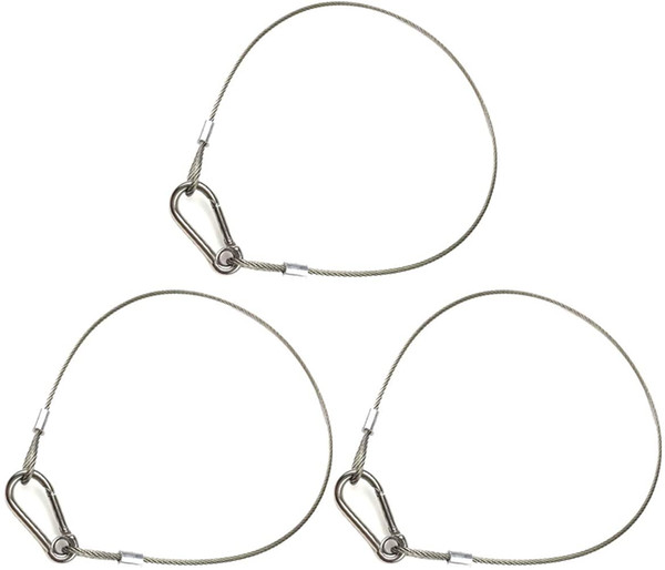 top popular Set of three drop-proof safety cable stainless steel safety rope suitable for party lights DJ lights stage lighting and a load of 110 pound 2021