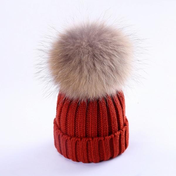 Brick rouge (des cheveux de chien de 15-18cm de raton laveur)