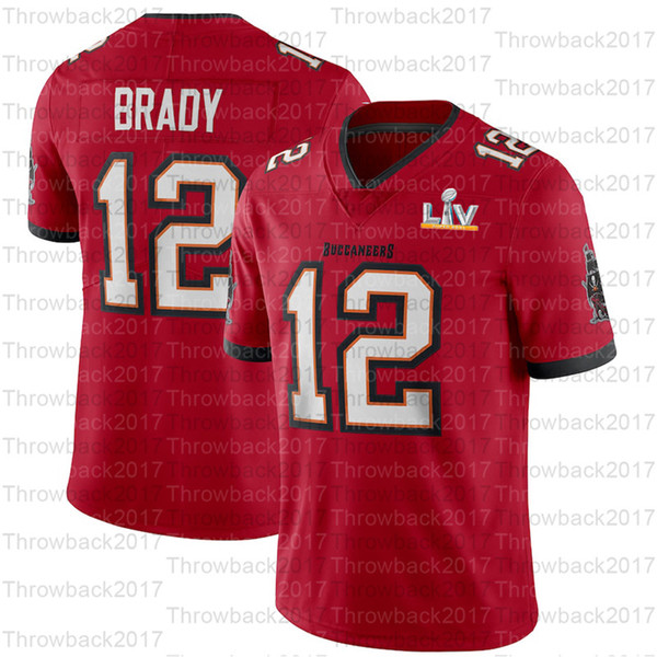 12 Tom Brady / Vermelho