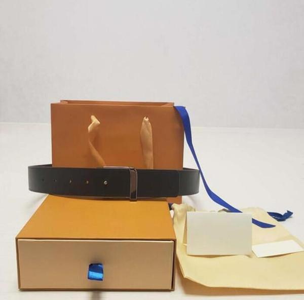top popular 2021 Fashion Big buckle genuine leather belt with box designer belts men women high quality new mens belts AA6 2021