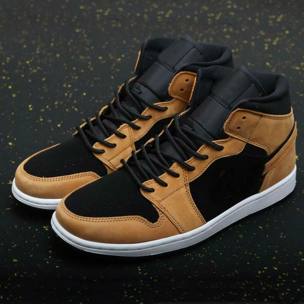 top popular 1 Mid SE Signal Blue shoe Wheat gravel brown black Men Basketball Shoes Outdoor Sports Sneakers Womens Mens trainers 2021