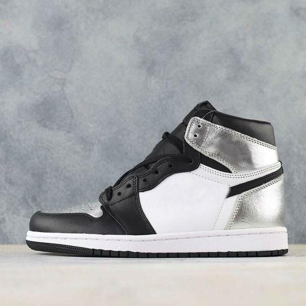 best selling 1 High OG University Blue shoe Obsidian 2.0 Silver toe Mid-night Navy white black women men basketball shoes mens sports sneakers36-45