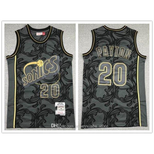 2020 Chinese New Year Seattle\rSuperSonics\rMEN Gary Payton CITY\rHWC basketball Jersey