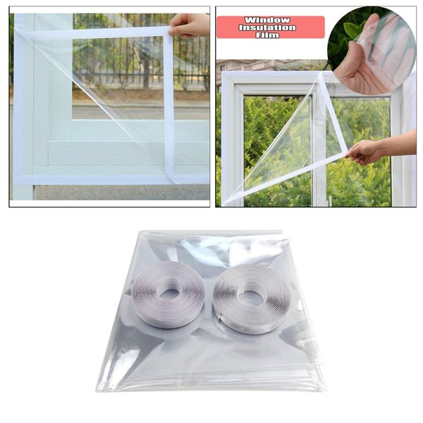 top popular TPU Window Insulation Film, Durable TPU Window Insulator Kit with Full Frame Heavy Duty Thermal Inblesulated Plastic Film Transparent 2021
