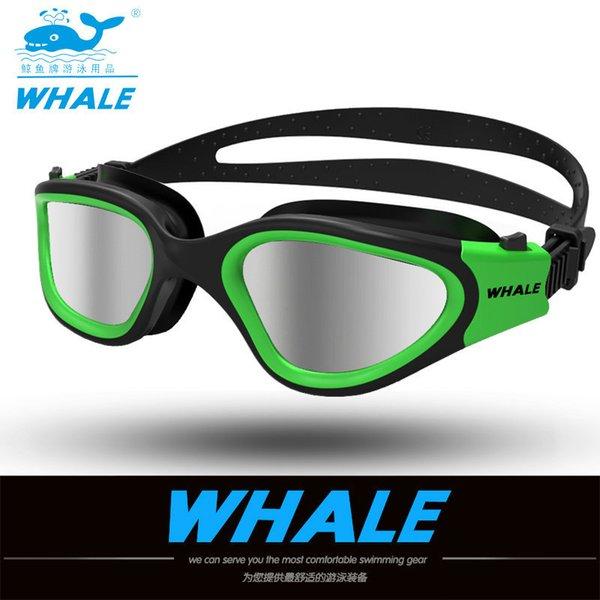 top popular Water Glasses Professional Swimming Goggles Adults Waterproof Swim Uv Anti Fog Adjustable Glasses Oculos Espelhado Pool Glasses 210305 2021