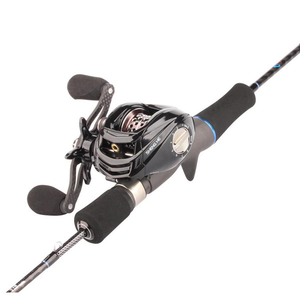 best selling Rosewood Lure Fishing Rod Reel Combo 1.8m Fuji Trout Rod And Left right Hand Baitcasting Reel Set With jllLIf sport77777