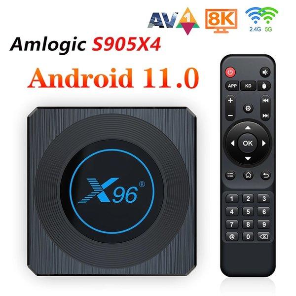 best selling X96 X4 Amlogic S905X4 Android 11.0 TV Box 4GB+64GB Wifi Smart RGB Light Media Player 8K Set Top Boxes