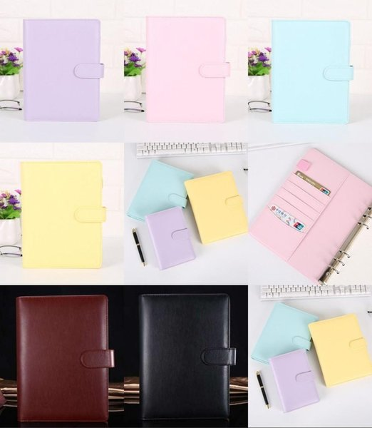 top popular A6 8 Colors Creative Waterproof Macarons Binder Hand Ledger Notebook Shell Loose-leaf Notepad Diary Stationery Cover School Office Supplies 2021