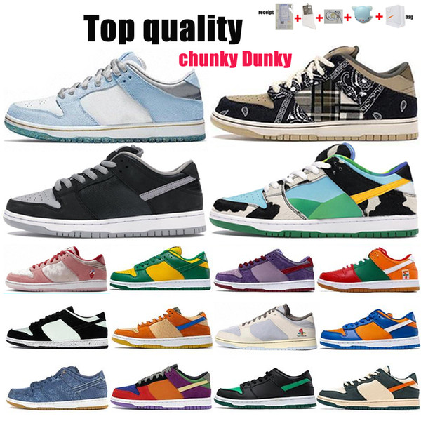 top popular Travis Scotts Running Shoes Strange LOVE Red Green White Brand Black Parachute Beige Men Women Skate Sports Shoes Size 36-46 With Half 2021