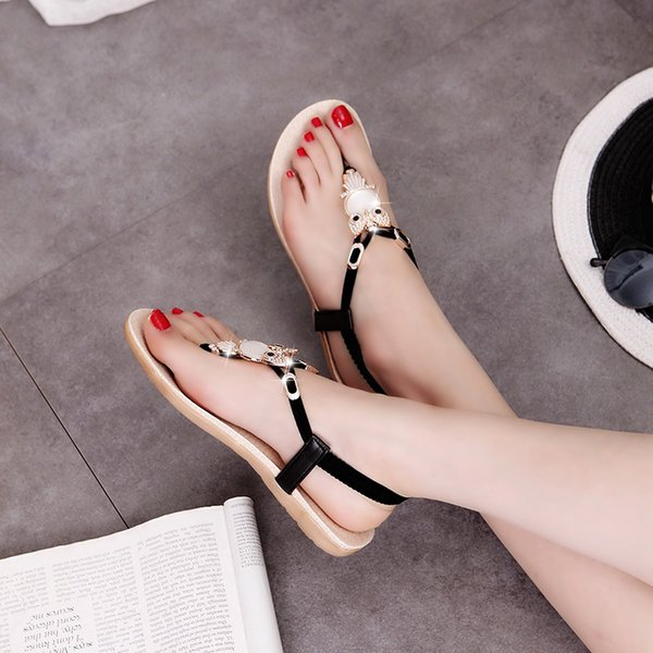 Women Sandals Flat Shoes Summer Sandals Fashion Women Flip Flops Beach Shoes Bohemian Ladies Sandals Shoes Woman Summer ShoesDress
