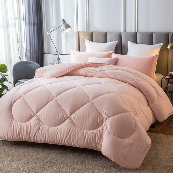 best selling 2021 New 1pc Multicolor Optional Winter Warm Covered 100% Plump Fabric Mattresses Edredon Luxury Consolator King Twin Size Fast Transport Hi