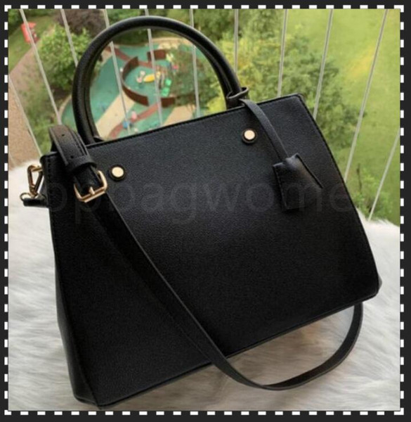best selling luxurys designers Handbags Purses MONTIGNE Bag Women Tote Brand Letter Embossing Genuine Leather Shoulder Bags crossbody bag Satchel N41056