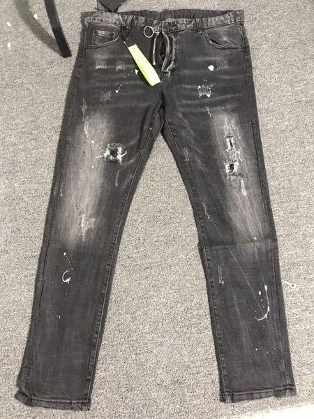 best selling mens designer jeans black luxury ripped skinny biker moto pants pour cool hommes men s hip hop denim revival new