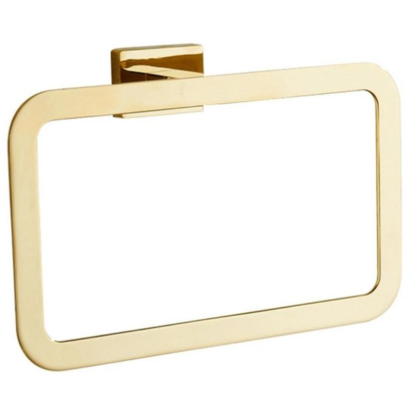 best selling Gold Towel Ring Chrome Bathroom Accessories Decoration Elegant Square Style