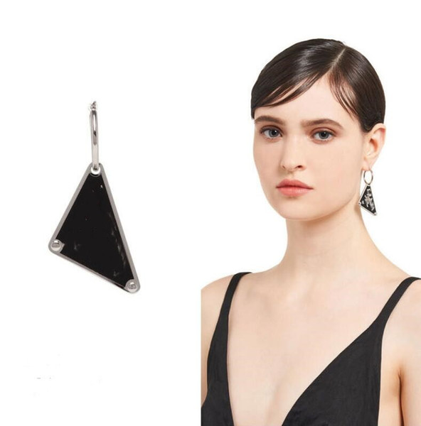 top popular New style triangle geometric letter earrings European and American exaggerated simple personality niche earrings wild temperament French ear 2021