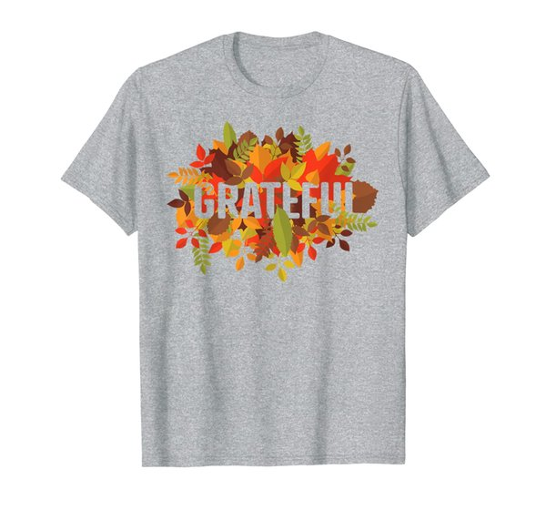 Fall for Women Thankful Grateful Blessed Thanksgiving Gift T-Shirt
