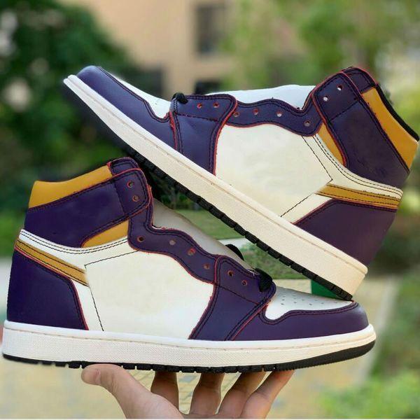 top popular x 1 High 1s Light Bone Court Purple Women Men Basketbal Shoes Outdoor Sports Sneakers trainers 36-45 2021