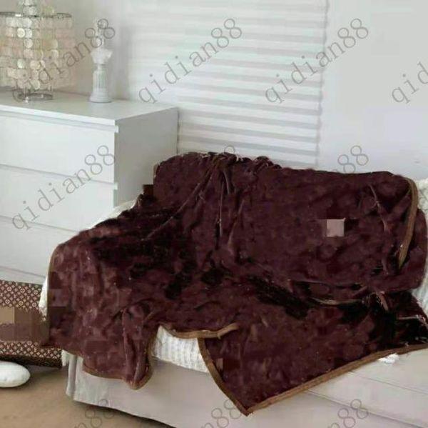 top popular Printed cashmere blanket velvet shawl home travel warm letter original knitted jacquard wool flying carpet sofa towel tapestry 2021