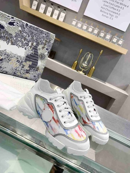 top popular 2021 luxury one-piece sports shoes designer high quality wholesale high-end printing fashion retro casual shoes black and white nude 2021