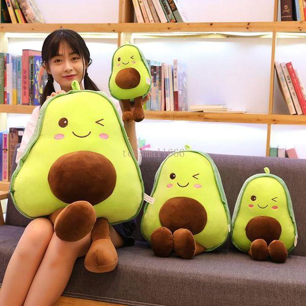 top popular 30cm Avocado Plush Toys Cute PillowCushion Kawaii Fruit Stuffed Doll Toy For Children Throw Pillow Birthday Gift 2021