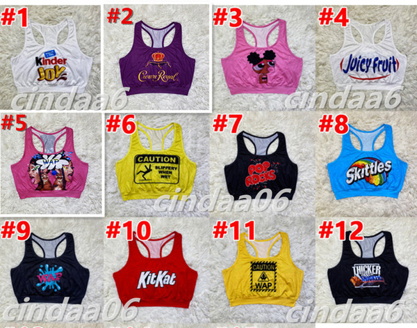 best selling Designer Women Vest Top Sexy Slim Casual Letters Cartoons Pattern Printed Ladies New Fashion Sports Sleeveless Crop Tops