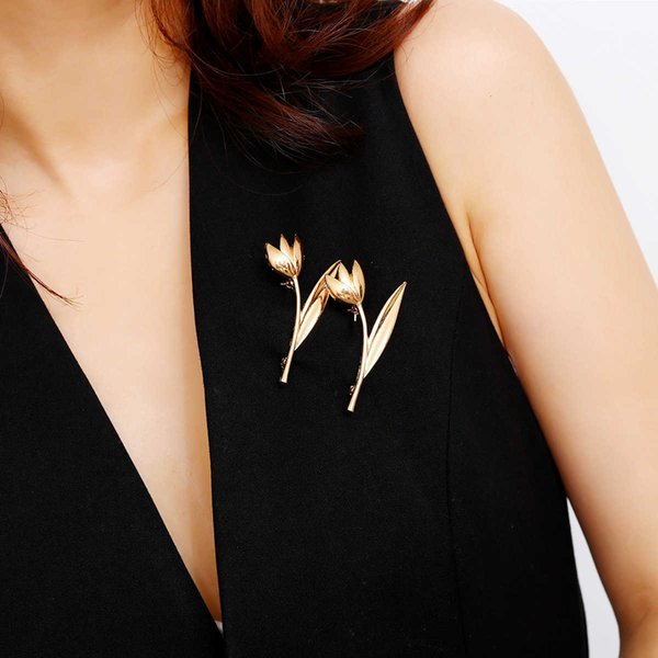 Fashion accessories simple temperament versatile business dress corsage alloy orchid lady Brooch Follow the feeling and choose what you like at first sight.