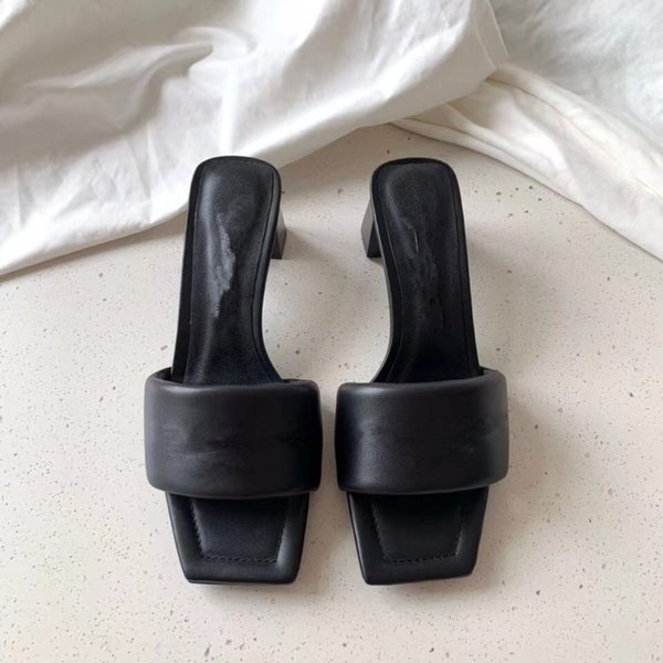top popular sandal dames sandals Women designers slipperss girl diamond Thick concise sheepskin high 5cm size 35-39 slipper 2021 shoes original box slippers online 2021