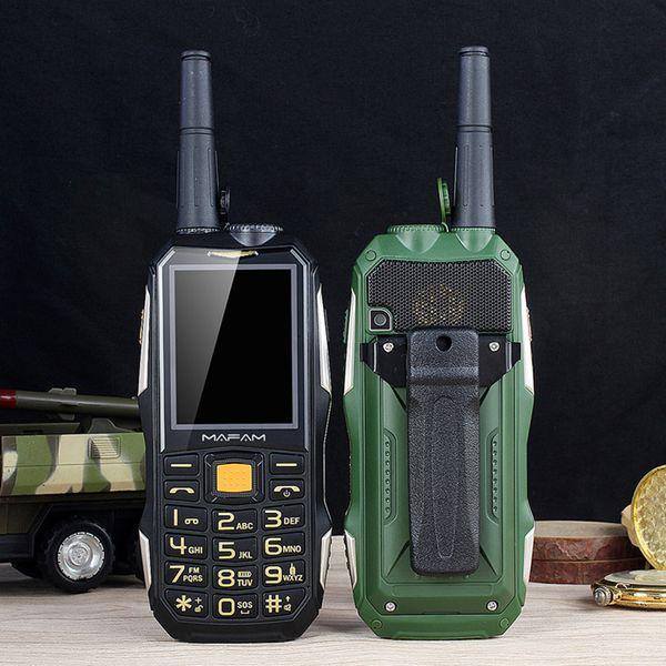 top popular Unlocked Mafam M2+ Moblie Phone Power BankUHF Hardware Intercom Walkie Talkie SOS Dia Dual sim card Flashlight FM Outdoor Shockproof Cellphone 2021