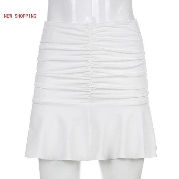 Sólo falda blanca
