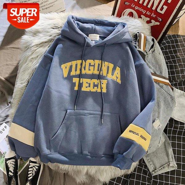 top popular High Quality oversized Sweatshirt women's clothes tops Hoodies Harajuku Warm Pullover Coat Drawstring Pink Womens Korean style #yu0E 2021